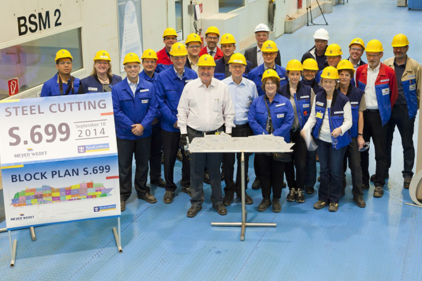 Construction of third Quantum-class ship starts in Meyer Werft